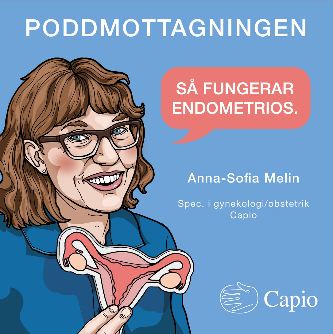 Illustration -gynekolog säger så fungerar endometrios